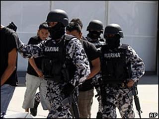 Operación antinarcóticos de la marina de México (foto de archivo)