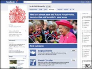 Страница королевской семьи в Facebook