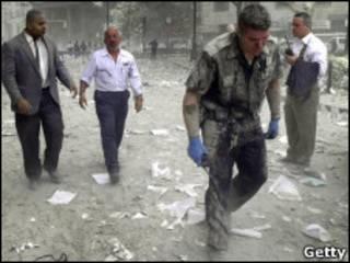 Полицейский в Нью-Йорке во время теракта 11 сентября