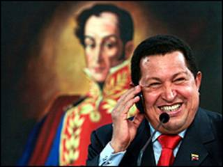Shugaba Chavez na Venezuela