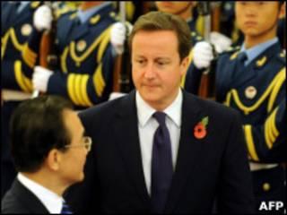 英国首相卡梅伦与中国总理温家宝