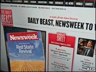 Журнал Newsweek и главная страница сайта The Daily Beast