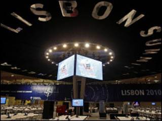 Зал в Лиссабоне, где будет проходить саммит