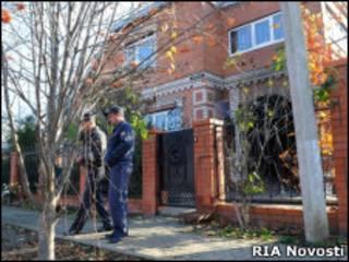 Дом, в котором были обнаружены тела 12 убитых