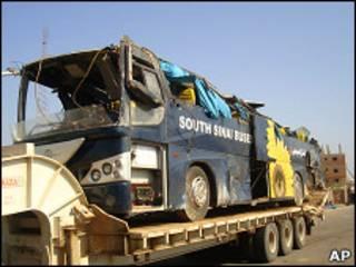 Туристический автобус, попавший в аварию в Египте
