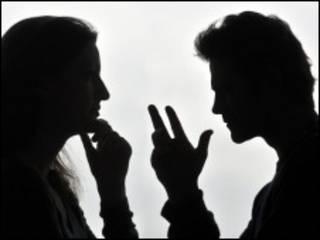 Силуэты мужчины и женщины