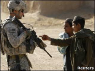 Патруль НАТО в Афганистане