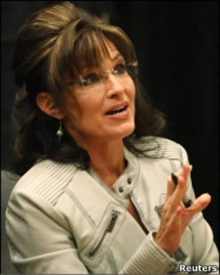 Сара Пэйлин на презентации своей книги