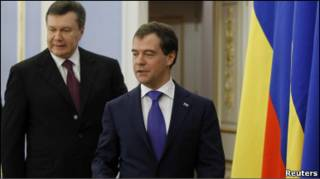 Віктор Янукович і Дмітрій Медвєдєв