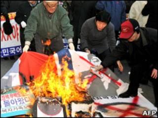 Протесты на улицах Сеула