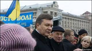 Янукович на Майдані