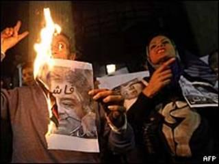 Protesto no Egito/AFP