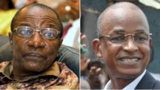 Alpha Conde et Cellou Dalein Diallo