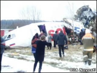 """Самолет Ту-154 """"Дагестанских авиалиний"""""""