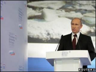 Владимир Путин на партийной конференции в Хабаровске