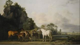 Bức Brood Mares and Foals của danh họa Anh George Stubbs