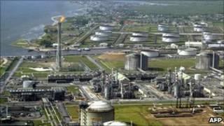 Des installations de Shell au Nigeria.