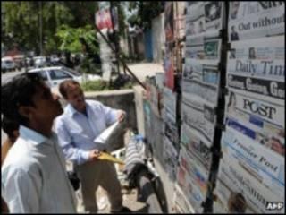 Пакистанский газетный киоск