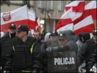 Демонстрация в Варшаве
