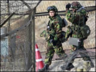 Войска Южной Кореи у демилитаризованной зоны