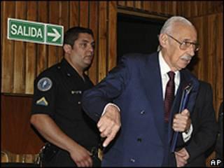 Jorge Videla en juzgado en Córdoba, Argentina