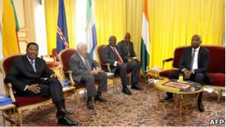 Laurent Gbagbo et une délégation ouest-africaine