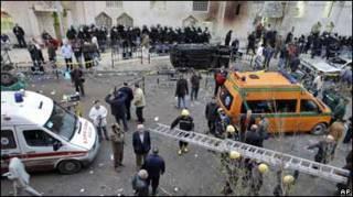 на місці вибуху в Александрії
