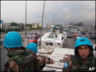 Бойцы миротворческого контингента ООН в Абиджане