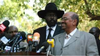 Salva Kiir na Omar Al Bashir