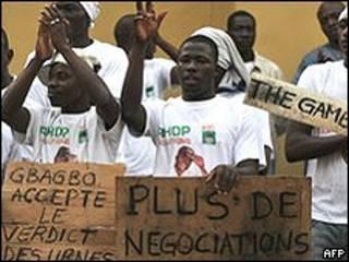 'Yan kasar Cote d'Ivoire suna zanga-zanga