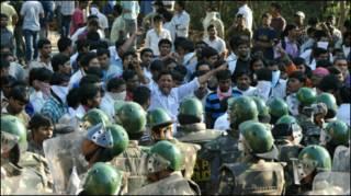 तेलंगाना के समर्थन में बंद (फ़ाइल)