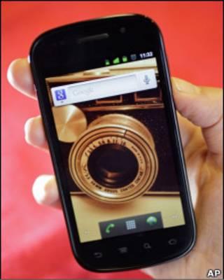 the Nexus S smart phone from Google/Samsung