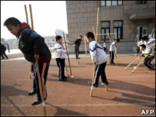 Escola em Pequim (arquivo)