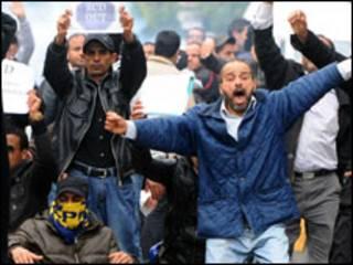 ट्यूनीशिया में विरोध प्रदर्शन