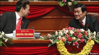 Hai ông Nguyễn Tấn Dũng và Trương Tấn Sang
