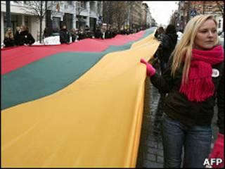 Демонстрация в Вильнюсе
