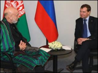 روسای جمهور افغانستان و روسیه (عکس از آرشیو)