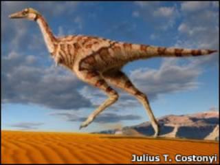 Representación del dinosaurio