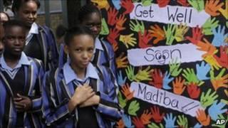 تلاميذ يزورون مانديلا