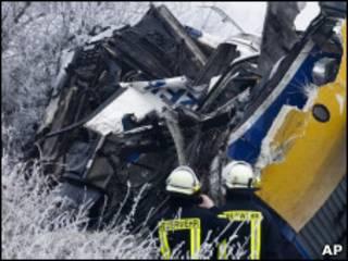 Железнодорожная авария в Германии