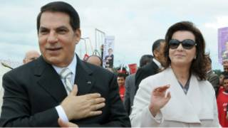 Ben Ali and wife