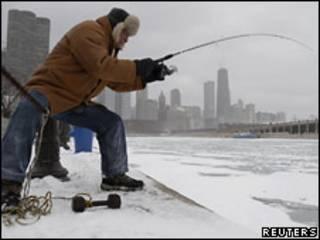 Подледная рыбалка в Чикаго