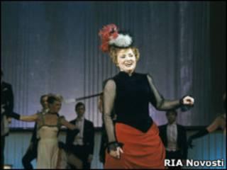 Татьяна Шмыга на концерте, посвященном 60-летию Московского государственного академического театра оперетты