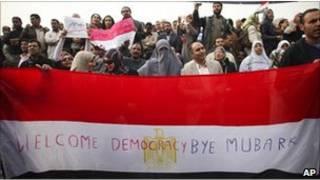Warga Mesir bergembira