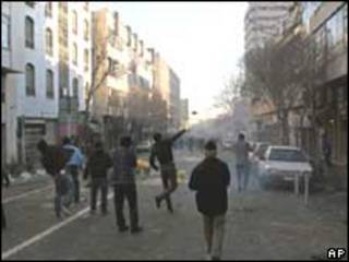 Manifestantes no Irã