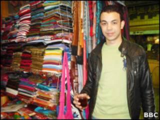 O vendedor Ahmad Mitawlly