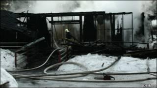 Последствия пожара в детском доме Хаапсалу