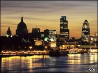 Закат над Лондоном