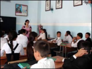 В таджикской школе