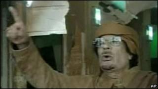 Muammar Gaddafi kuri televiziyo ya leta